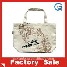 New Style 100% Cotton Custom Logo Shoulder Tote Bag Cotton Bag