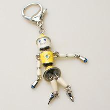 fashion dancing robot diamante keychain