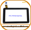 """7"""" inch Capacitive Touch screen handwritting screen touch panel digitizer replacement for tablet PC FPC-TP070210(S738)-00"""