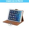 Classical Book Style Folding PU Pad Case For iPad 5 U1701-129