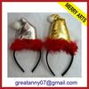 customized new flashing christmas hat headbands party baby kids headband