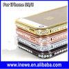 Bling Bling Rhinestone Metal Aluminum Bumper Case for iPhone 5 5S