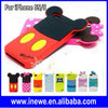 Newest 2014 3D Cartoon Patterns Silicone Case for iPhone 5S 5