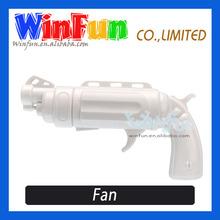 Lovely Gun Shape Small Fan Mini Electric Hand Fan Plastic Fan