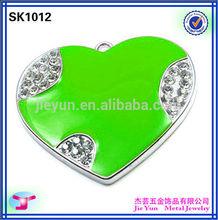 bright enamel rotatable badge reel for cap