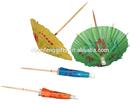 Decorative cocktail umbrella sticks