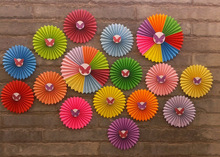 2014 new sales !The butterfly glued at the colorful paper fan