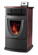 Freestanding cast iron fireplace