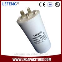 white plastic & aluminum shell LEFENG brand cbb60 series super capacitor 5-120uf 250-500vac