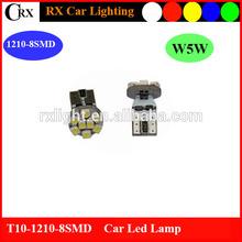 T10 194 168 W5W SMD 8 car led lamp, side bulb light, side light lamp
