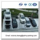 2000kg 2 Levels Pit Garage Parking Car Lift / Double Parking Car Lift 4 Pillar Vertical Pit Parking System