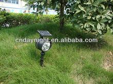 2014 New Design High Quality 4pcs LED Solar Spot Light Garden DN2051