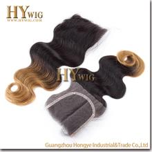 Cheap 100% Human Hair Brazilian Free Parting Lace Closure