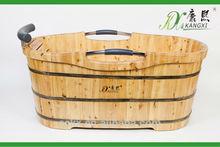 Indoor custom size wooden bathtubs, freestanding bathtub, best selling wood crafts 2012