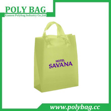 grass green Loop Handle plastic bags with OEM logo for women