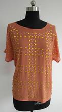 Fashion Ladies Rhinestone top shirt