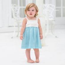 DB937 dave bella 2014 summer wholesale children's boutique clothing kids clothes frozen dress wedding dress girls dress