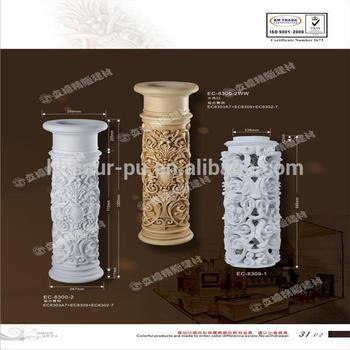 Decorative Foam Columns Carving Porch Columns For