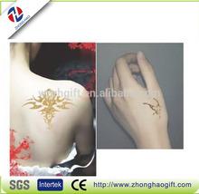 Decorative gold temporary tattoo kits