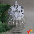 Vintage francés joya hierro y cristal decoración jar