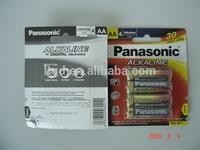 Panasonic LR6 AA alkaline battery blister packing