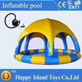 venda quente do pvc inflável piscina com barraca