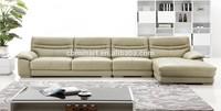 home furniture leather sofa/chrome legs leather sofa/down filled leather sofa