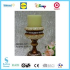 2014 High quality ribbed glass candle holders