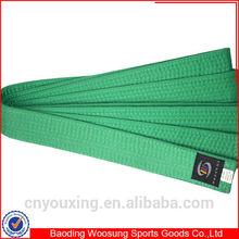 Wholesale martial arts belts green taekwondo/karate belts