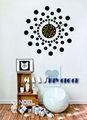 reloj de pared de amor de bricolaje decoración espejo pegatinas de pared reloj de la moda reloj calcomanías casa