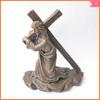 2014 new design bronze religious cross statues