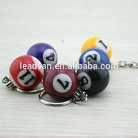 Cool mini billiard balls colors keychain snooker balls keychain