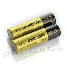 Hot Sale! Low Price Lithium 3.7v 4000mAh Boruit 18650 Battery Golden Color Rechargeable Li-lon Battery 2pcs for Led Light