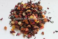 Delicious Chinese fruit black tea, fruit blending, fruit infusion