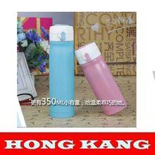 2015 Most popular bullet type outer color plast vacuum flasks inner plating copper