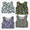 New arrival cheap price ladies women Floral Sleeveless Crop Top sexy cute girls 2014 OEM bulk tops vest for European style