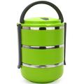 proteção ambiental cor açoinoxidável lancheira que mantém a comida quente