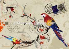 Decortive painting bird canvas printing drop shipping