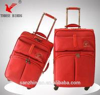 hot sales big room 1680d nylon 4 spinner wheels high quality travel luggage three birds luggage