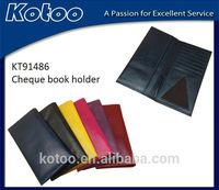 genuine leather men checkbook cover wallet