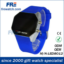 vogue deep blue square LED watch silicone band with many colors for your options