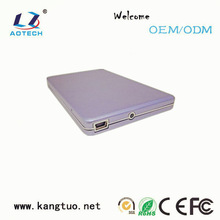 Aluminum/ABS plastic 2.5 hdd external enclosure case