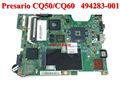 Venta al por mayor original del ordenador portátil placa madre placa base la placa del sistema 494283-001 para hp presario cq50 cq60
