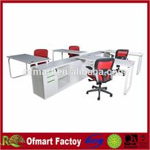 Metal 4 people steel frame office desk