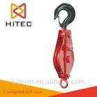 CE Certificate Open single sheave Pulley with hook crane block open type pulley block