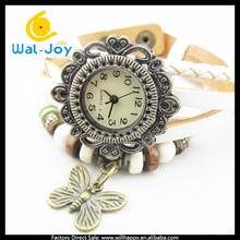 butterfly pendant fancy watch women vintage rope bracelet watch (SW-1381)