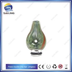 SAILING Newest 510 Peace Buckle drip tips,artglass drip tips original design from SAILING,