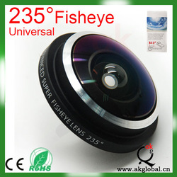 NEWEST Universal 235 degree super fisheye lens with clip for most smartphone and PDA