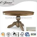 Antique francês redonda mesa de jantar em madeira maciça projeto ojcz- 015