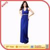 BIBIQ New arrival beaded sexy halter royal blue floor length abaya pictures